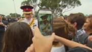 Le Prince Harry à son arrivée en Australie, le 6 avril 2015.