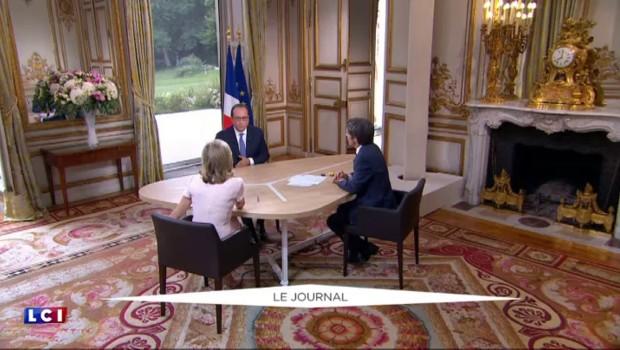 14 Juillet : le bilan attendu du quinquennat de Hollande, interviewé par Gilles Bouleau et David Pujadas