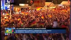 Allemagne championne du Monde : explosion de joie à Berlin au coup de sifflet final