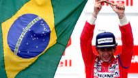 Ayrton Senna lors de sa victoire au GP du Brésil 1991.