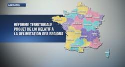 La carte des 15 régions françaises votée par le Sénat le 31/10/14
