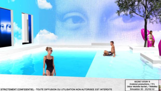 Secret Story La maison des secrets - dessin d'illustration Michèle Sarfati Teledeko Simulation 3 D