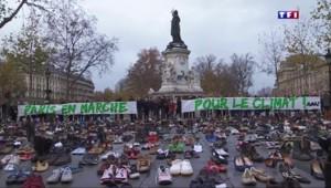 COP 21 : des chaussures place de la République pour manifester par procuration
