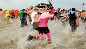 Dunkerque bain nouvel an