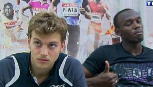 JO 2012 : Christophe Lemaitre face à Usain Bolt