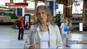 """Le 20 heures du 12 juillet 2013 : Un train d�ille �r�gny : A Austerlitz, """"une situation tr�rare"""" - 830.9949999999999"""