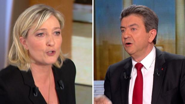 Marine Le Pen et Jean-Luc Mélenchon, le 5 février 2012 sur Parole de Candidat.