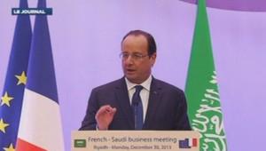 François Hollande à Riyad 30/12