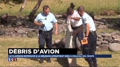 """La Réunion : le débris d'avion retrouvé fin juillet appartient """"avec certitude"""" au MH370"""