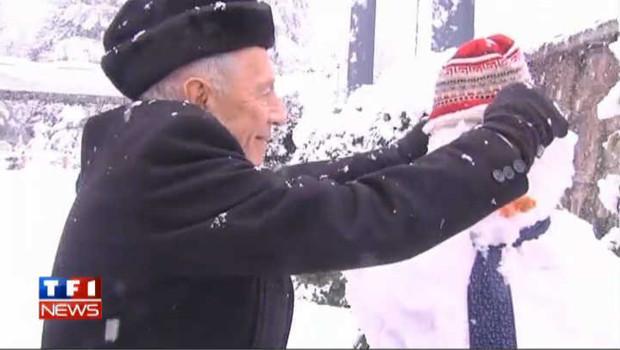 Neige à Jérusalem : Simon Peres et le bonhomme de neige