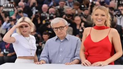 "Cannes : le photocall du film ""Café Society"" de Woody Allen avec Kristen Stewart et Blake Lively"