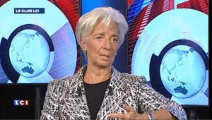 Christine Lagarde, invitée du Club LCI, le 16 octobre 2012.
