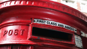 Une boîte aux lettres anglaise