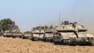 Des chars de l'armée israélienne.
