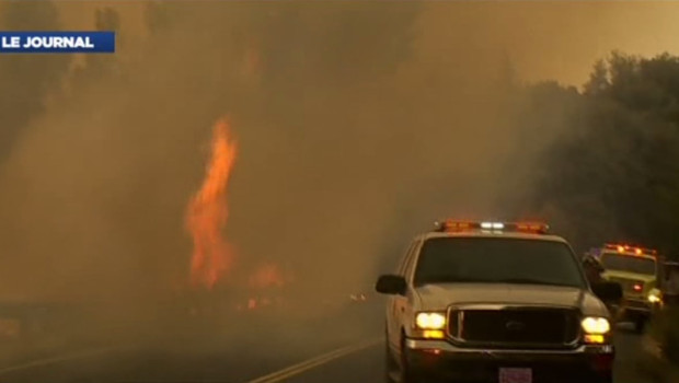 Le célèbre parc naturel Yosémite est menacé par les flammes en Californie, le 23 août 2013.