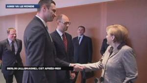 Merkel, Klitschko et Iatseniouk à Berlin