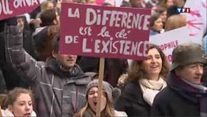 Démonstration de force des anti-mariage gay à Paris