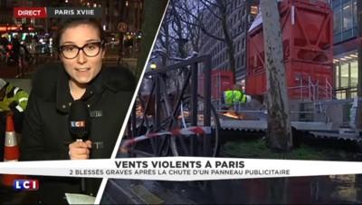 Vents violents : deux blessés graves à Paris, ce que l'on sait