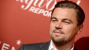 Leonardo DiCaprio, à son arrivée au déjeuner des nommés aux Oscars à Los Angeles le 10 février 2014
