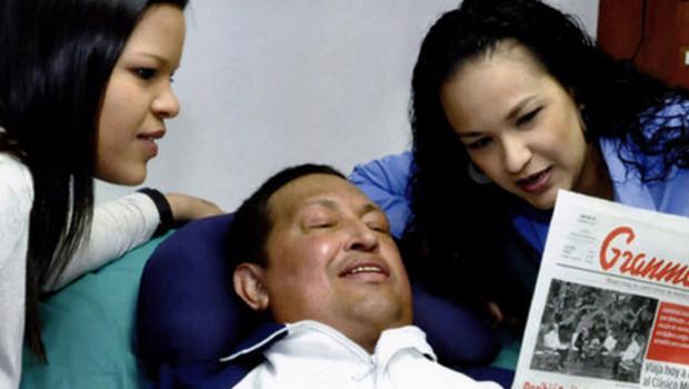 Photo d'Hugo Chavez diffusée par la télévision vénézuélienne le 15/2/13