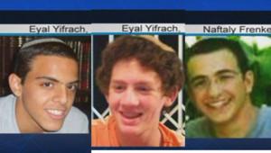 Les trois Israéliens enlevés en Cisjordanie