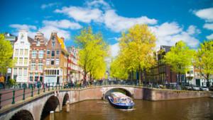 Une vue d'Amsterdam