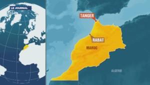 Carte de localisation de Tanger, au Maroc