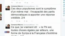Crise de la Grèce : quand Macron gaffe en comparant le FN à Syriza