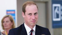 Le prince William lors de son départ en Australie et NOuvelle Zelande le 25 avril 2014