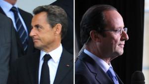 Images d'archives de Nicolas Sarkozy et François Hollande