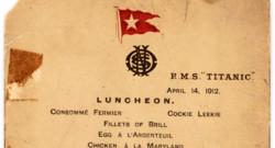 Le menu du dernier déjeuner servi à bord du Titanic