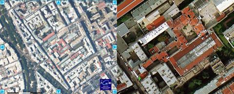 Comparatif Géoportail Google Maps Paris tf1.fr lci.fr