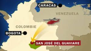 carte colombie sauvetage otages