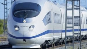 Une version du train à grande vitesse de Siemens, le Velaro