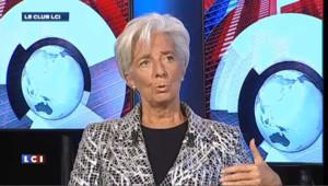 """Christine Lagarde : """"la perspective budgétaire française est bâtie sur l'hypothèse que la croissance va repartir comme ressort"""""""