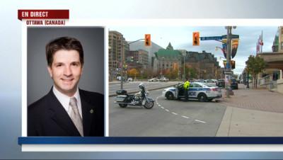 """Le 20 heures du 22 octobre 2014 : Fusillades au Parlement canadien : """"Nous croyions qu'il y avait des travaux, avec la fr�sie nous avons vite compris"""" - 236.274"""