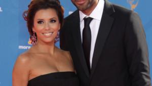 Eva Longoria et Tony Parker. Soirée des Emmy Awards 2010 à Los Angeles.
