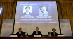 Le Japonais Takaaki Kajita et le Canadien Arthur McDonald ont reçu le prix Nobel de physique 2015.