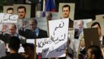 Les obus ont été tirés alors que quelque 300 personnes étaient rassemblées devant l'ambassade pour remercier la Russie de son intervention en Syrie.