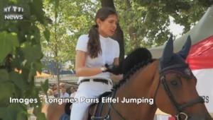Guillaume Canet et Charlotte Casiraghi font le show à Paris Eiffel Jumping