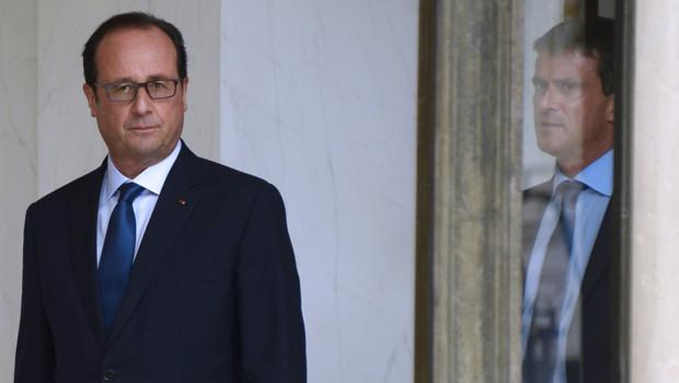 François Hollande et Manuel Valls à l'Elysée le 27 août 2014