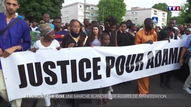 Marche blanche à Beaumont-sur-Oise pour Adama Traoré, décédé lors de son interpellation