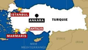 TF1/LCI : Série d'explosions en Turquie : la carte des villes touchées