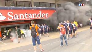 Vidéo : un incendie dans le stand de Williams fait neuf blessés