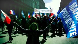 Lors du défilé Front national le 1er mai 2012/Image d'archives