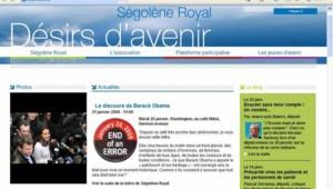 """Ségolène Royal racontant l'investiture de Barack Obama sur """"Désirs d'Avenir"""" (21 janvier 2008)"""