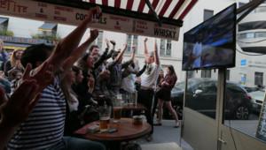 supporters français téléspectateurs TF1 Bleus France-Suisse équipe de France coupe du monde