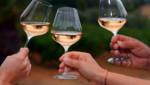 Illustration. Trois verres de vin.