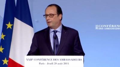 François Hollande, le 28/8/14