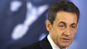 Nicolas Sarkozy lors d'un déplacement en Guyane le 21 janvier 2012